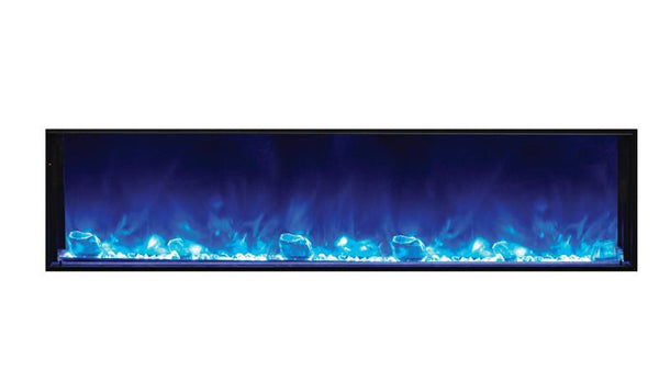 "Amantii 72"" Deep Indoor or Outdoor Electric Built-in only w/ black steel surround"