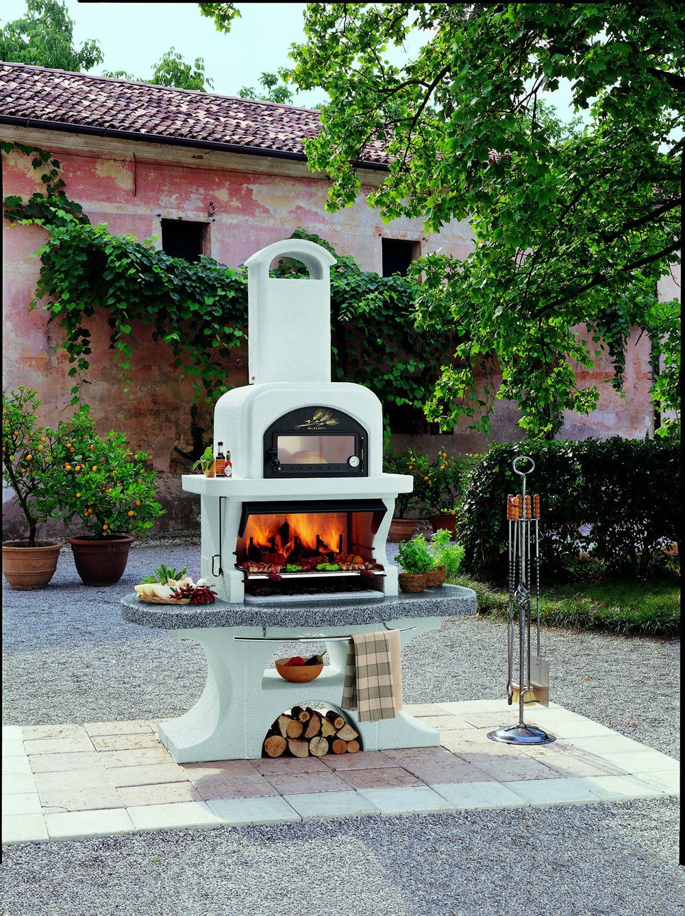 Palazzetti CAPRI 2 Barbecue Outdoor Cooking Grill By Paini Pizza Ovens Paini