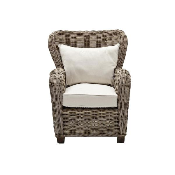 NovaSolo Wickerworks CR42 Queen Chair with seat & back cushions Chair NovaSolo