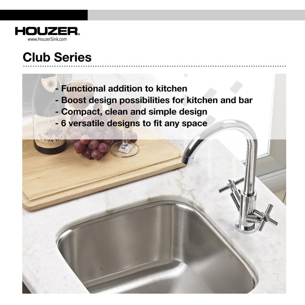 Houzer CS-1607-1 Club Series Undermount Large Bowl Bar/Prep Sink Bar Sink - Undermount Houzer