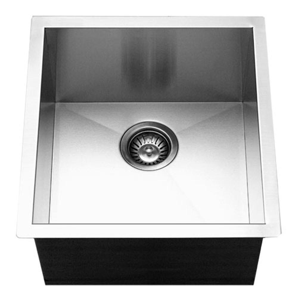 Houzer CTR-1700 Contempo Series Undermount Stainless Steel Bowl Bar/Prep Sink Bar Sink - Undermount Houzer