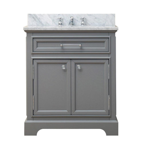 "Derby 30"" Cashmere Grey Single Sink Bathroom Vanity Only"