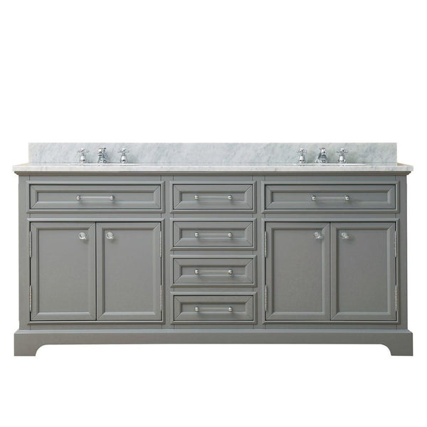 "Derby 72"" Cashmere Grey Double Sink Bathroom Vanity Only"