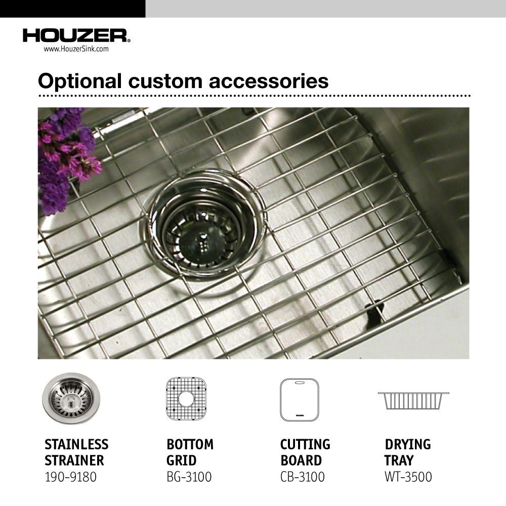 Houzer Elite Series Undermount Stainless Steel 50/50 Double Bowl Kitchen Sink Kitchen Sink - Undermount Houzer