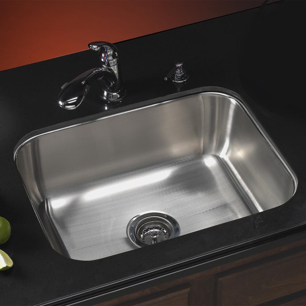 Houzer Elite Series Undermount Stainless Steel Single Bowl Kitchen Sink Kitchen Sink - Undermount Houzer