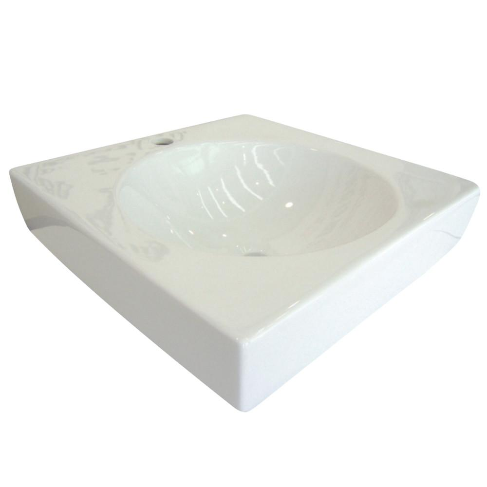 Fauceture EV7018 Beverly Hills Vessel Sink, White Bathroom Sink Kingston Brass White
