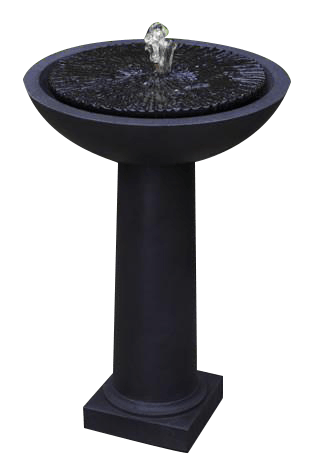 Equinox Birdbath Outdoor Garden Fountain Fountain Campania International