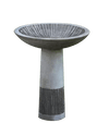 Equinox Cast Stone Outdoor Garden Birdbath(1pc) BirdBath Campania International