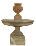 Etruria Urn Short Outdoor Cast Stone Garden Fountain