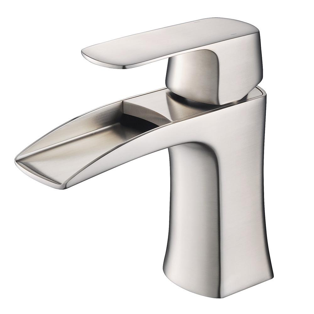 Fresca Fortore Single Hole Mount Bathroom Vanity Faucet - Brushed Nickel Bathroom Faucet Fresca