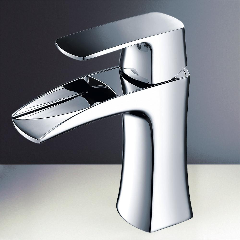 Fresca Fortore Single Hole Mount Bathroom Vanity Faucet - Chrome Bathroom Faucet Fresca
