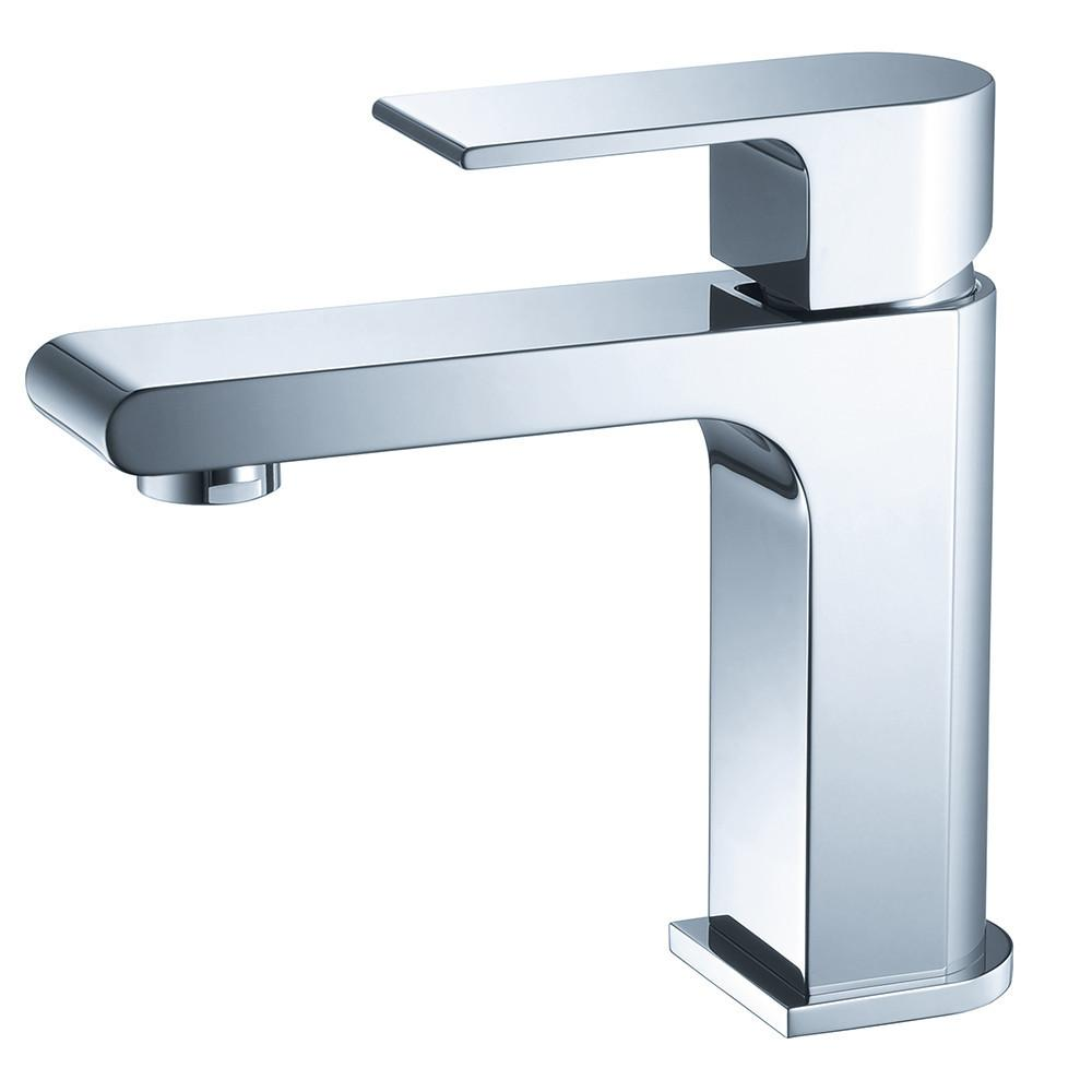 Fresca Allaro Single Hole Mount Bathroom Vanity Faucet - Chrome Bathroom Faucet Fresca