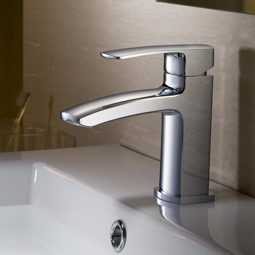 Fresca Fiora Single Hole Mount Bathroom Vanity Faucet - Chrome Bathroom Faucet Fresca