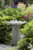 Bjorn Birdbath Outdoor Garden Water Fountain