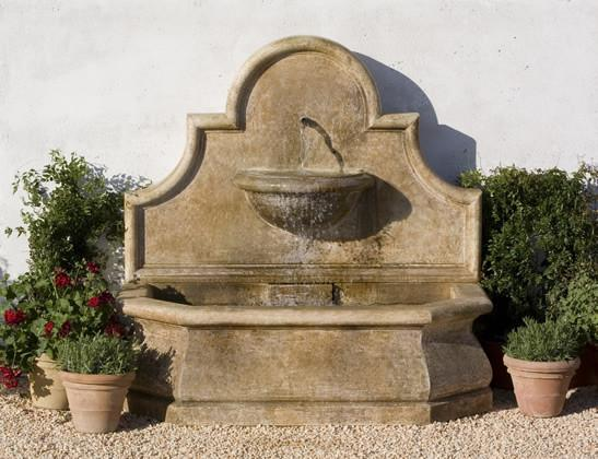 Andalusia Outdoor Cast Stone Wall Fountain