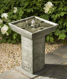 Andra Cast Stone Outdoor Bird bath Garden Fountain