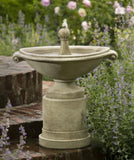 Borghese Outdoor Birdbath Garden Fountain