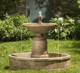 Borghese in Basin Outdoor Garden Fountain