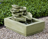 Cascading Hosta Outdoor Garden Fountain