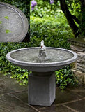 Autumn Leaves Outdoor Garden Birdbath Water Fountain