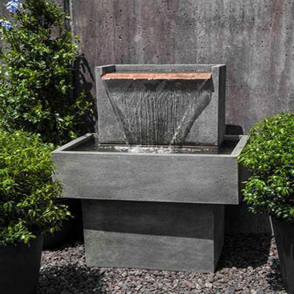 Falling Water I Outdoor Garden Fountain Fountain Campania International