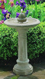 Acorn Outdoor Cast Stone Birdbath Garden Water Fountain