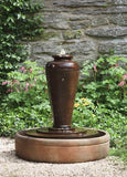 Bisbalos Cast Stone Garden Urn Water Fountain