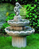 Amalfi Two Tiered Outdoor Cast Stone Garden Fountain