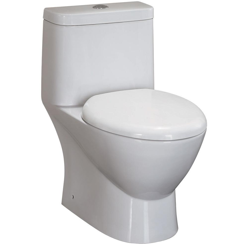 Fresca Serena One-Piece Dual Flush Toilet w/ Soft Close Seat Toilets Fresca