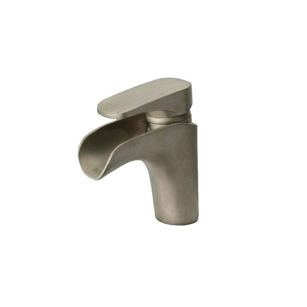 Latoscana Novello Watefall Single Lever Handle Lavatory Faucet In  Brushed Nickel