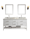"ARIEL Shakespeare 73"" Double Sink Bathroom Vanity Set in Grey"