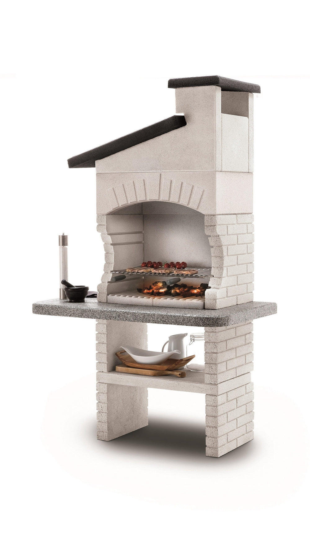 Palazzetti GUANACO 2 Barbecue Outdoor Cooking Grill By Paini Pizza Ovens Paini