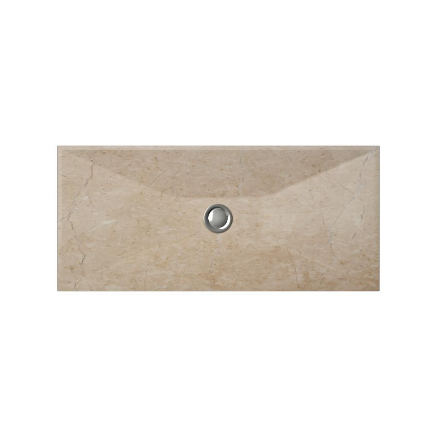 Cantrio Travertine Rectangle Vessel Bathroom Sink Stone Series Cantrio
