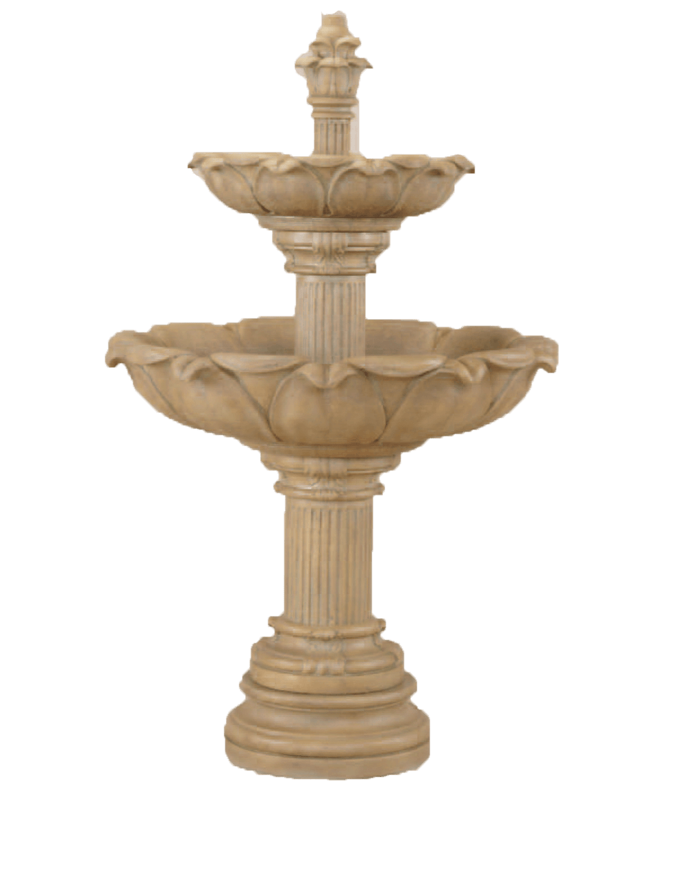 Acquarossa Two Tier Cast Stone Outdoor Garden Fountain Fountain Tuscan