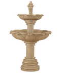 Acquarossa Two Tier Cast Stone Outdoor Garden Fountain