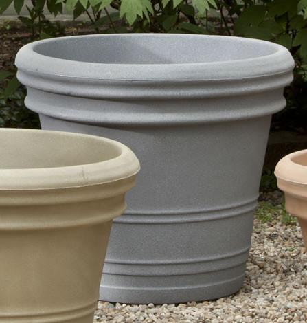 Campania International Polyethylene Double Rolled Rim Planter Urn/Planter Campania International