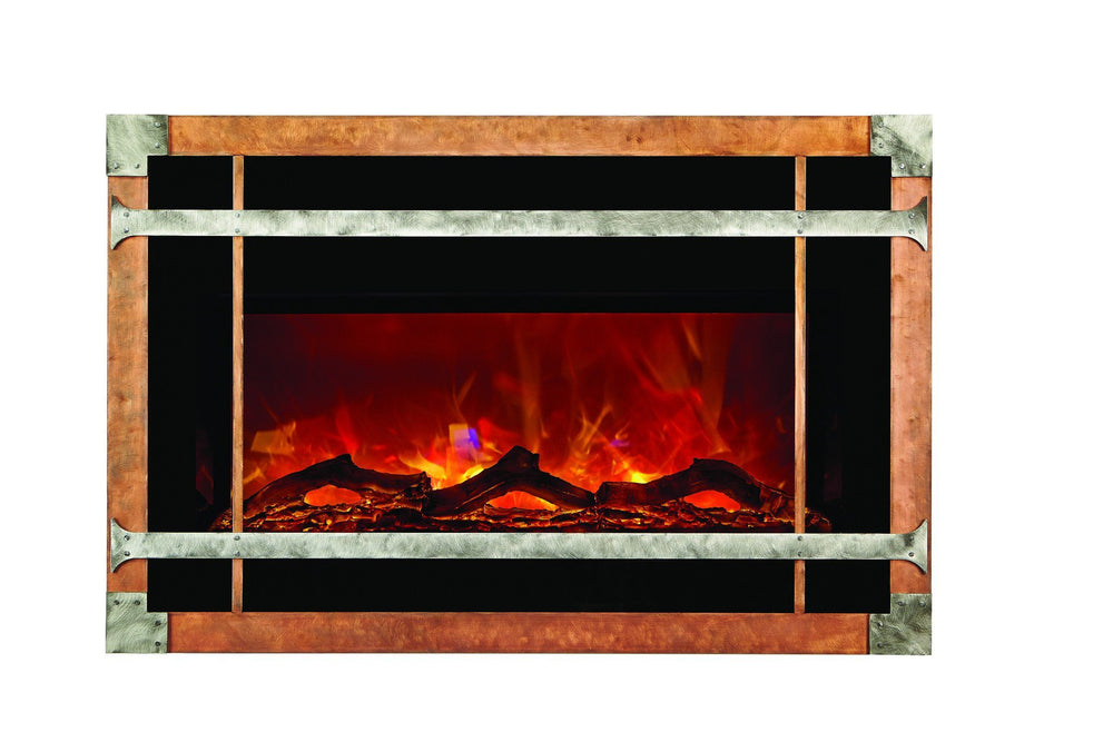 Amantii Blacksmith style steel overlay only for INSERT-30-4026 Electric Fireplace Amantii