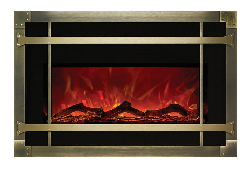 Amantii Mission style steel overlay only for INSERT-30-4026 Electric Fireplace Amantii