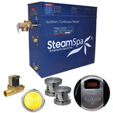SteamSpa IN1050BN-A Indulgence 10.5 KW QuickStart Acu-Steam Bath Generator Package with Built-in Auto Drain in Brushed Nickel