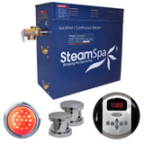 SteamSpa IN1050CH Indulgence 10.5 KW QuickStart Acu-Steam Bath Generator Package in Polished Chrome