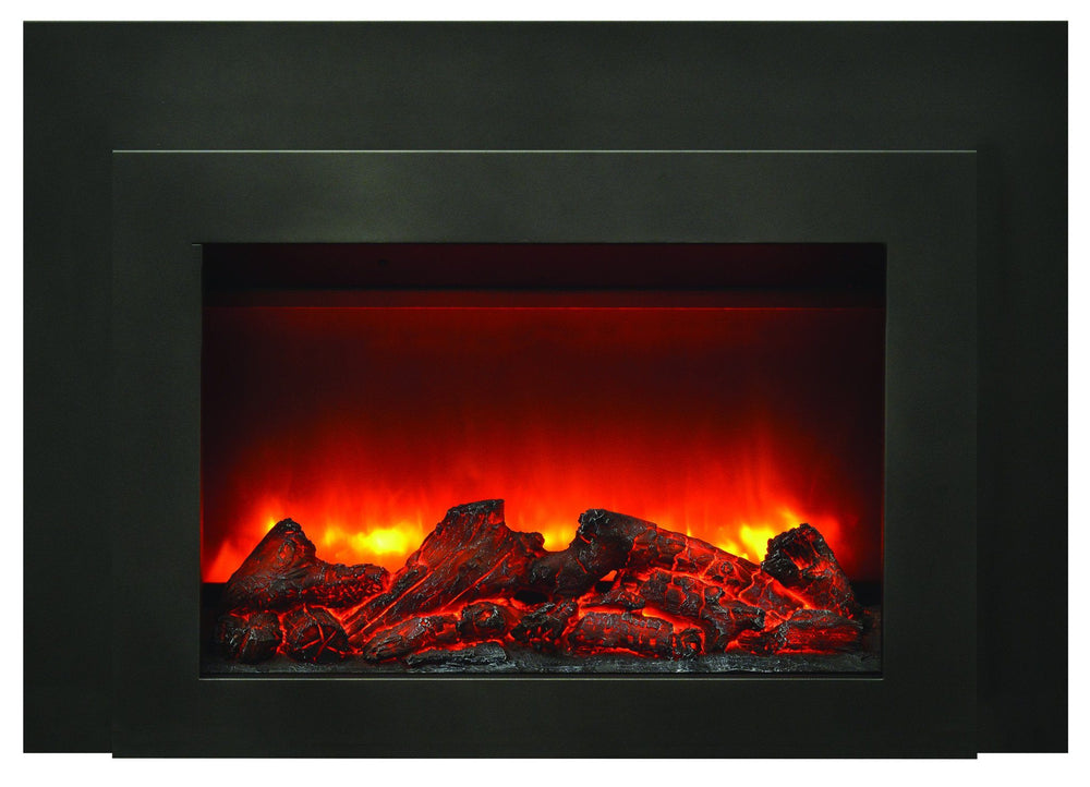 Amantii Steel overlay for INS-FM-34 Electric Fireplace Amantii