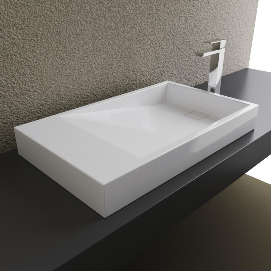 Cantrio Solid Surface above counter sink Solid Surface Series Cantrio