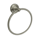 Latoscana England Towel Ring In A Brushed Nickel Finish