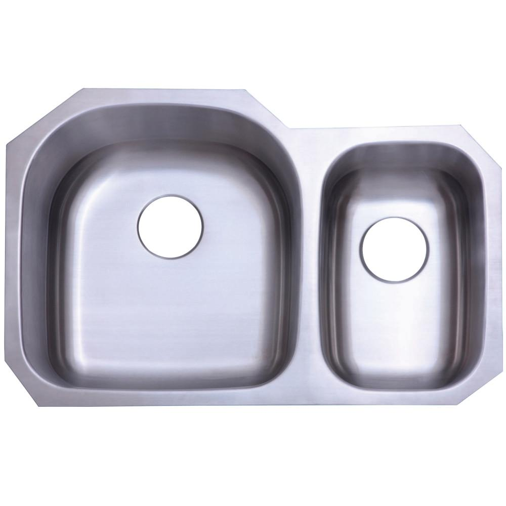 Kingston Brass KU322097DBN Undermount Kitchen Sink , Brushed Stainless Steel Kitchen Sink Kingston Brass Default Title