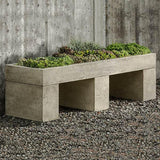 Trough Cast Stone Outdoor Garden Bench