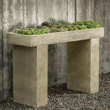 Trough  Cast Stone Outdoor Garden Console Table