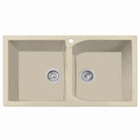 Latoscana NK07920 Double Basin Kitchen Sink in 55UG SAHARA Finish Kitchen Sinks Latoscana