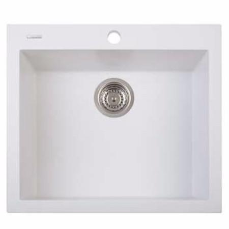 Latoscana ON6010 One Series Single Drop-In Sink In 58UG Milk White Finish Kitchen Sinks Latoscana