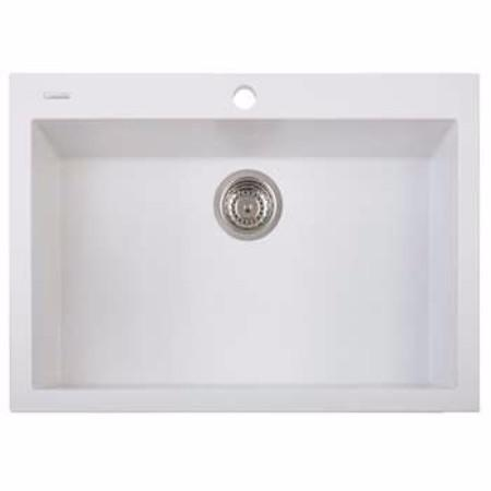 Latoscana One Series Single Basin Kitchen In Milk White Finish Kitchen Sinks Latoscana