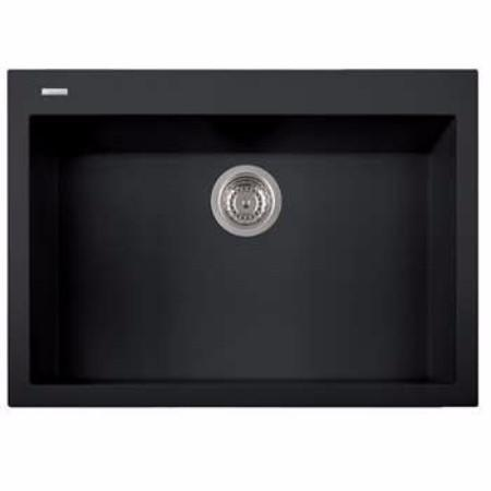 Latoscana ON7610-70UG Kitchen Sink in 70UG BLACK MATT Finish Kitchen Sinks Latoscana